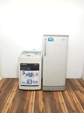 Samsung refrigerator & 6.5kg top load sgsgggs warranty & free shipping