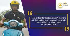 Need Delivery Boys and Bike riders for RAPIDO BIKE TAXI