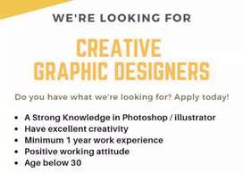 Freelance Graphic Designer required