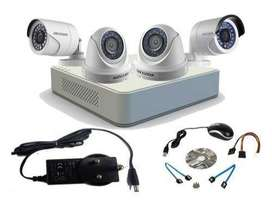 4 HD CCTV Camera installation-
