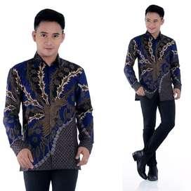 Jual Baju Kemeja Batik Pria Lengan Panjang Murah