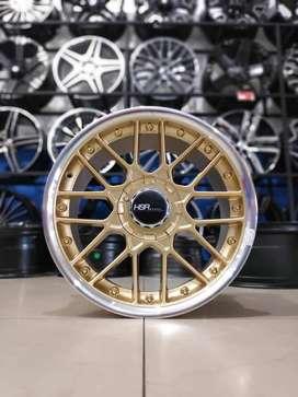 Velg Mobil HSR F1 Gold R17x7,5-8,5 H8x100-114,3 Bisa tuker Tambah