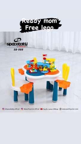 Meja lego anak free kursi