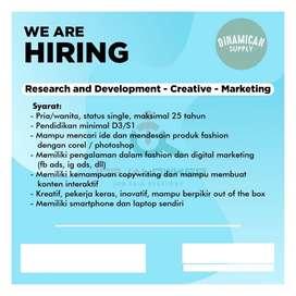 Dicari Research And Development – Creative – Marketing