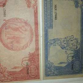 Uang soekarno 1964 pecahan Rp.1000
