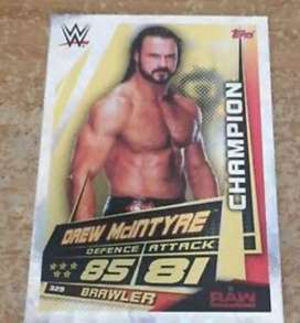 WWE slam attax cards