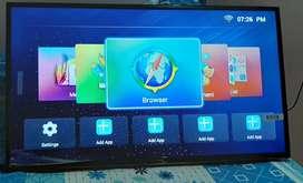NIKAI LED SMART TV  HD 40 inches with Airtel dgtl reciever and dish .