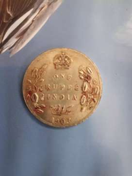 EDWARD Vll one rupee coin of 1903