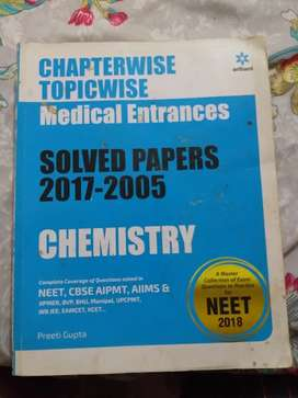 Solved papers chemistry for NEET exam