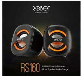 Speaker Portabel Robot aktif Dual Bass System