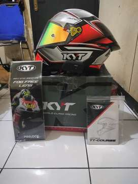 Helm KYT TT Course Tourist Red Fluo (NEGO)
