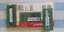 Transcend, Samsung, 3GB DDR2 Laptop RAM, 667 Mhz