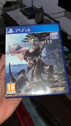 Monster hunter world ps4 bd original murah