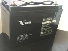Imported Sealed Leadacid 12v 100Ah Maintenance Free Dry Battery Vision