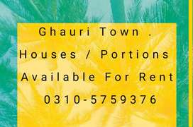 House for rent in ghouri town Islamabad