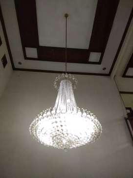 Dijual Lampu Kristal Gantung Besi