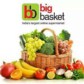 Big basket delivery full time or part time it's ur choice