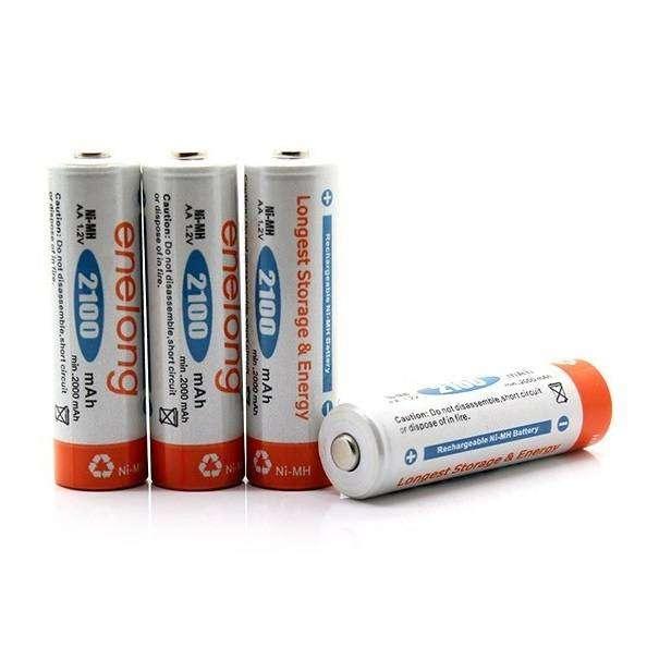 Baterai Cas Ni-Mh AA 2100mAh 4 PCS - HR6 / MN1500 - White - Enelong 0