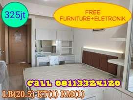 DIJUAL Apartemen 1 BR Full Furnished Murah di Mulyorejo Surabaya Timur