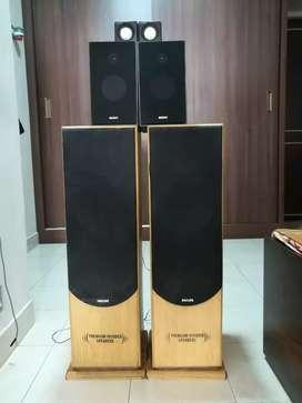 Philips wooden tower speakers | Sony Hifi Speakers | USB speakers