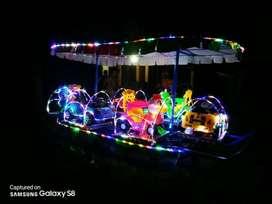 kereta panggung MURCE odong lampu hias komedi putar AF