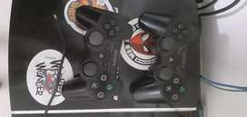 Play station 3 gaming console with two controller