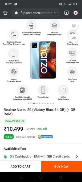 Realme narzo 20 only 2 months old