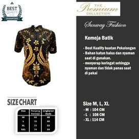 AM0069 Harga Promo COD Baju Kemeja Batik cowok Pria Kualitas terjamin