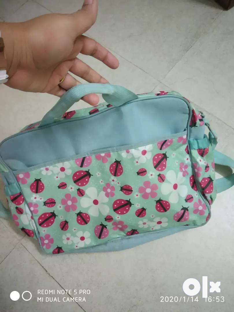 Diaper changing bag with mat 0