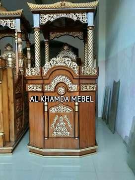 Monggo Ready Mimbar Masjid Motif Kereta #(774)#