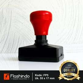 Flashindo Stempel Warna Persegi Panjang Ukuran 55 x 17mm Stempel Flash