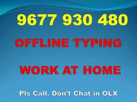 DATA ENTRY TYPING Work. Qualification: Just U Know Typing. Contact Now