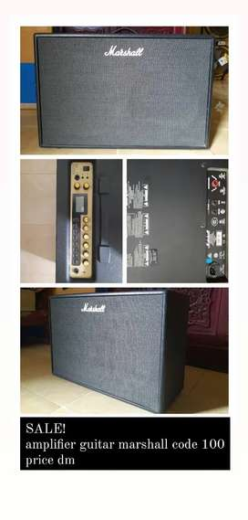 AMPLIFIER GUITAR MARSHALL CODE 100