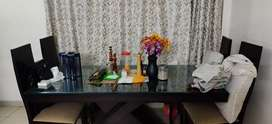 Dining Table with 6 wooden chair