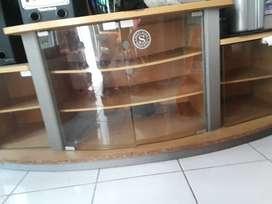 Buffet TV/lemari TV warna coklat