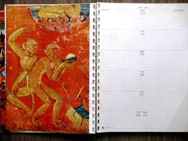 TATA TEXTILES PICTORIAL DESK DIARY OF 1967 AND PICTORIAL CALENDAR 1950