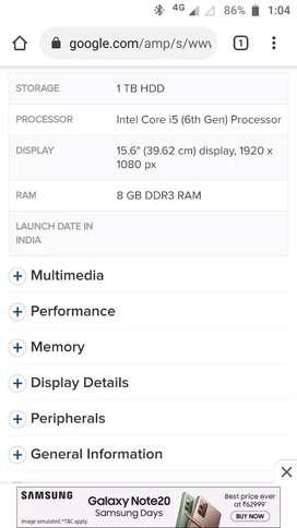 Dell Inspiron 15 5559 Laptop (Core I5 6th Gen/8 GB/1 TB