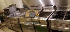 Commercial Kitchen Equipment fast food deepFryer Hotplate prep table