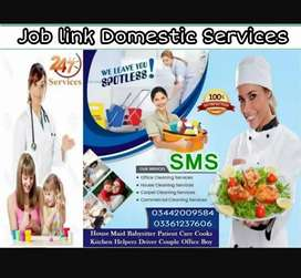 Domestic services Provider in KARACHI (R) Maid's Babysitters cook etc