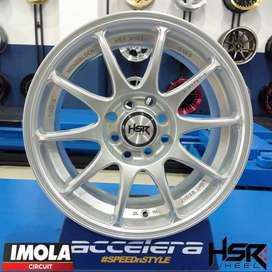 Ring 15 Velg Import Mobil Vios Brio HSR INDY R15x65 Pcd 8x100-114,3
