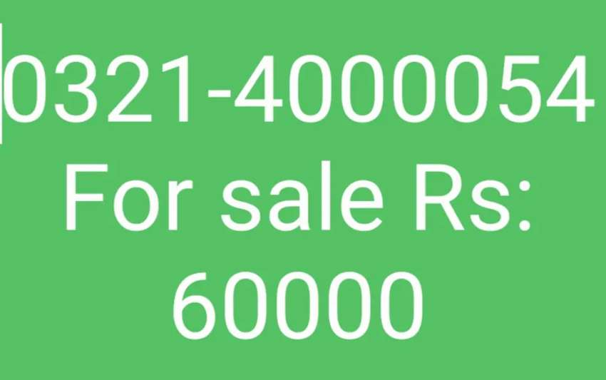 Warid golden number for sale Rs 60,000 0