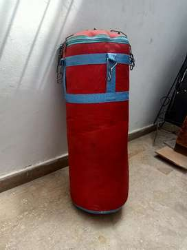 Punching bag filled