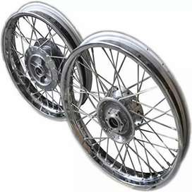 Royel Enfield rear/front spoke wheels with tyres (new like condition)