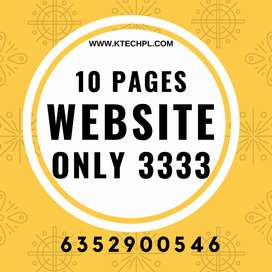 10 Pages Website Design only 3333