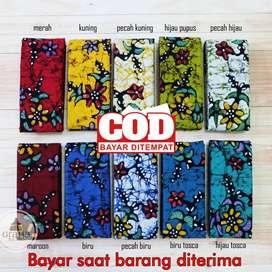 Kain Batik Tulis Asli Katun Halus Bahan Batik Bakaran Melati Warna 1