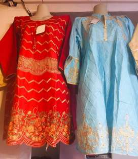 Eid Collection FANCY LAWN COTTON Frock Shirt TWO Piece WHOLESALE RATE