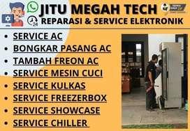 Service AC Tidak dingin Servis Mesin Cuci Kulkas Showcase Freezerbox