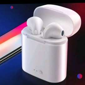Wireless Simple Headset Bluetooth i7s with Charging Box Good Quality