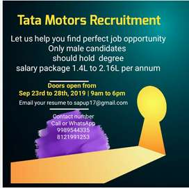 Jobs in Tata motors till 30 OCT 2019