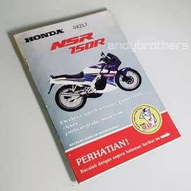 Buku Manual Book Pedoman Pemilik Motor HONDA NSR 150R 1994-98 ORIGINAL